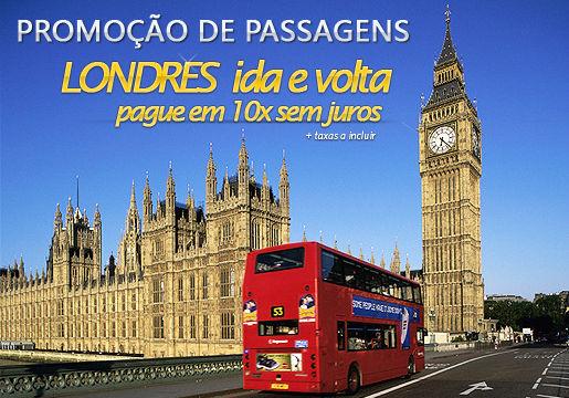 LONDRES: Passagens aéreas em 10x sem juros