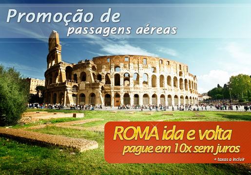 APROVEITE: Aéreo p/ Roma em 10x sem juros