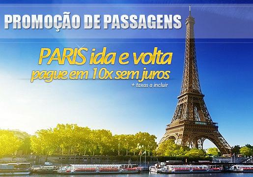 RASGADO: Aéreo p/ Paris em 10x sem juros