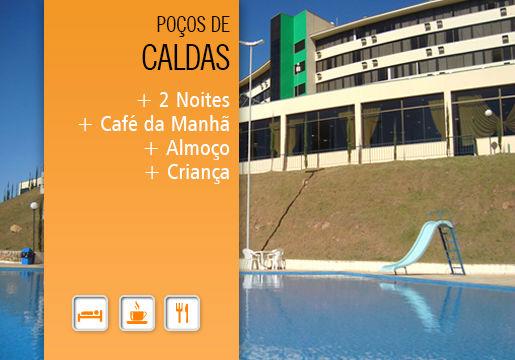 Poços de Caldas: Hotel p/2 + Meia Pensão