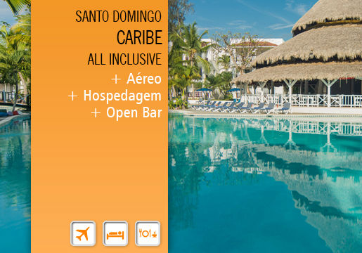 Caribe ALL INCLUSIVE & OPEN BAR: Aéreo + Hospedagem