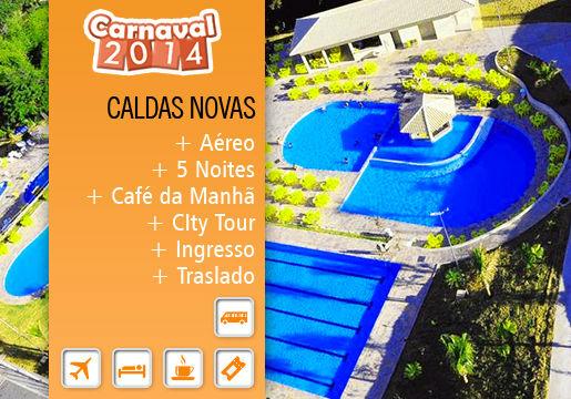 Carnaval em CALDAS NOVAS: Aéreo + 5 Diárias + HotPark