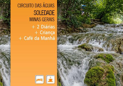 Soledade/MG: 2 Diárias p/ Casal + criança + Café