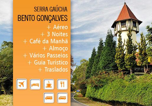 O melhor da Serra Gaúcha: aéreo + hotel + vários passeios