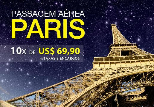 PASSAGEM para PARIS por 10X de US$69,90 (R$162,51*)