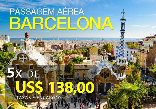 PASSAGEM para BARCELONA em VOO DIRETO por 5x R$ 319,90