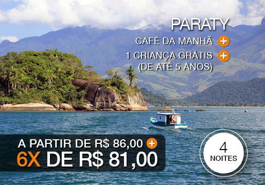 Apaixone-se por Paraty: 4 Diárias com Café + Criança