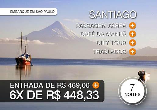 Santiago + Região dos Lagos com aéreo