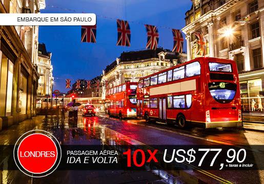 Voo MUITO BARATO para LONDRES por apenas 10x U$77,90