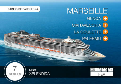 Mar mediterrâneo no LUXUOSO MSC Splendida