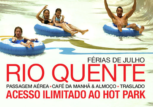 Rio Quente Resorts com aéreo + meia pensão + hot park