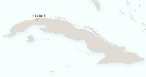 Mapa Havana em Cuba