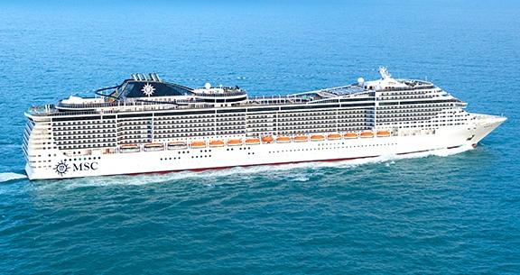 MELHOR Navio da MSC do RIO DE JANEIRO para o NORDESTE