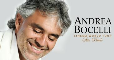 SÃO PAULO: Show de ANDREA BOCELLI + Aéreo + Hotel c/ Café