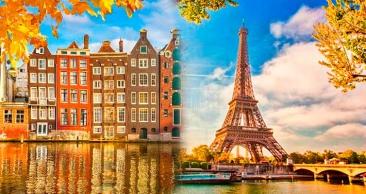 PARIS + Bruxelas + Amsterdã + Frankfurt e BARCO PELO RENO